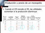 producci n y precio de un monopolio2