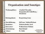 organisation und sonstiges1