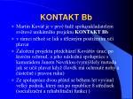 kontakt bb