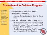 commitment to outdoor program