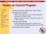 impact on council program1