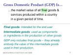gross domestic product gdp is1