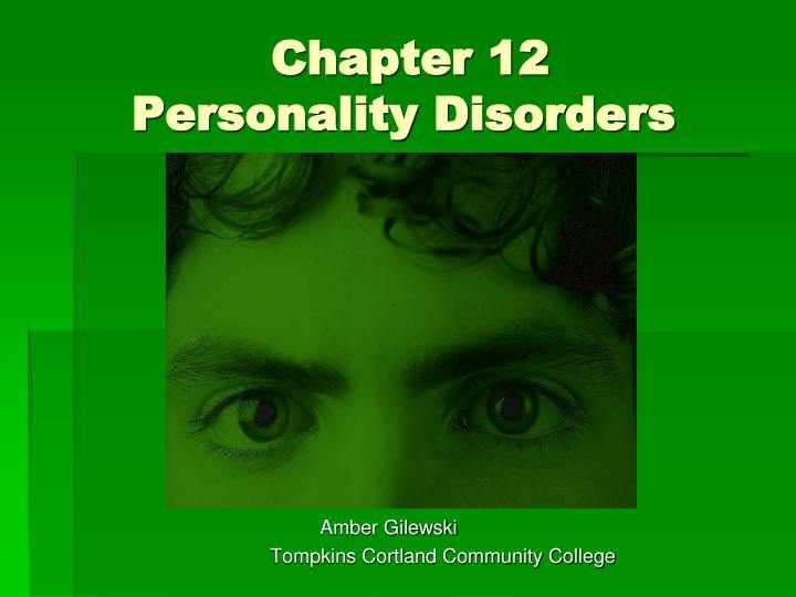 chapter 12 personality disorders n.