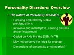 personality disorders overview