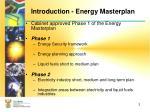 introduction energy masterplan