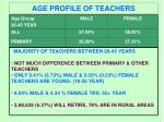 age profile of teachers