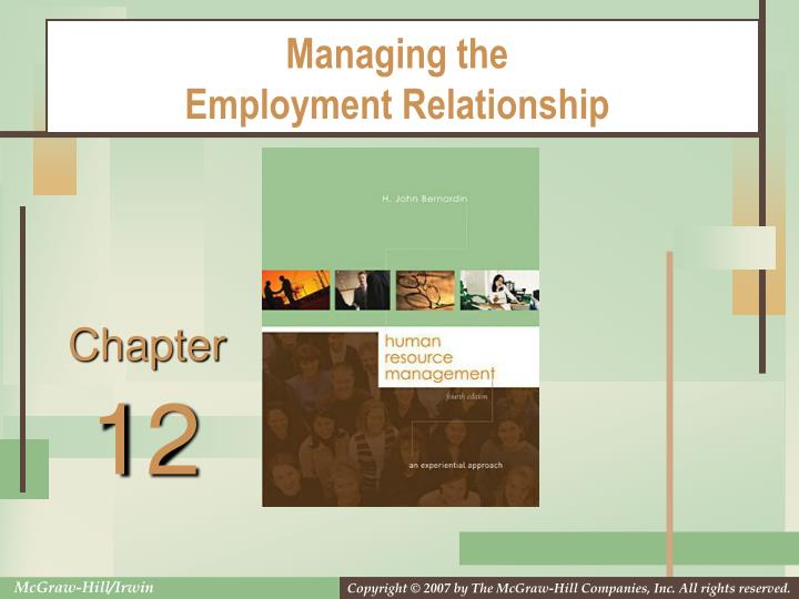managing the employment relationship n.