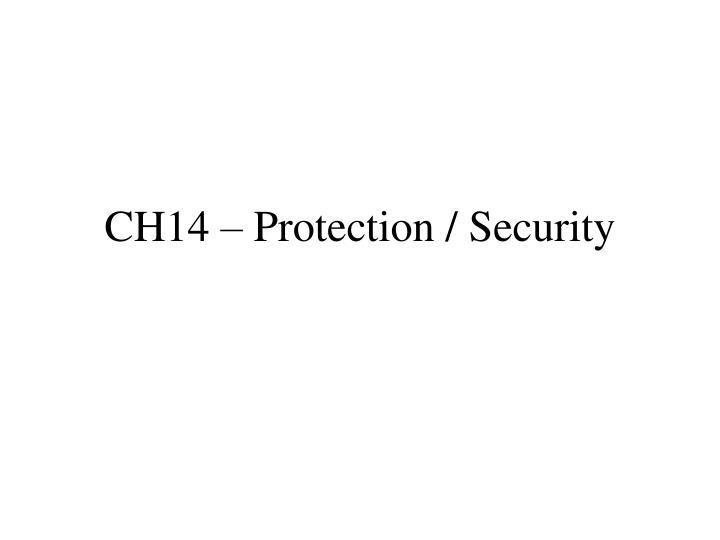 ch14 protection security n.