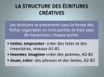 la structure des critures cr atives