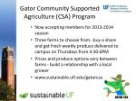 gator community supported agriculture csa program