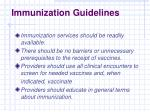immunization guidelines