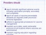 providers should