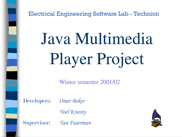 java multimedia player project