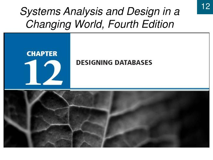 chapter 12 designing databases n.
