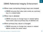 dbms referential integrity enforcement