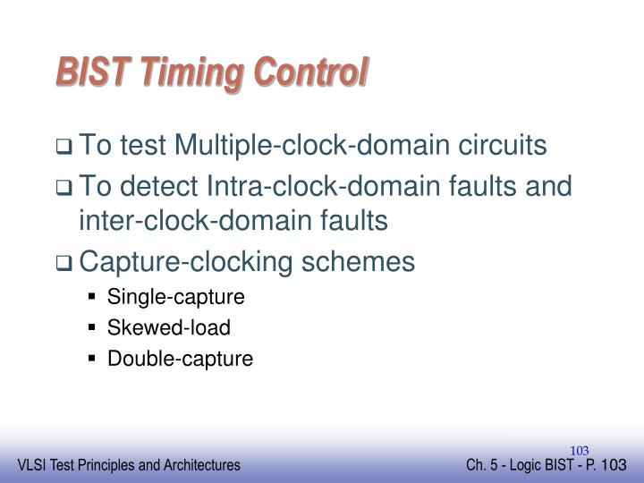 BIST Timing Control