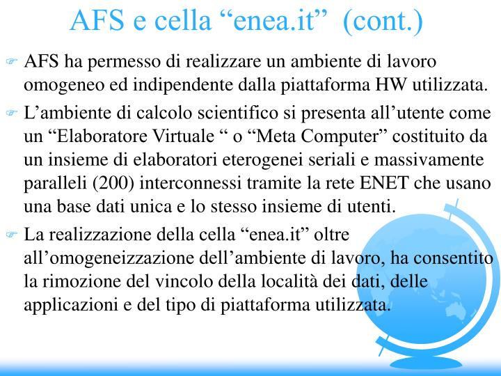"AFS e cella ""enea.it""  (cont.)"