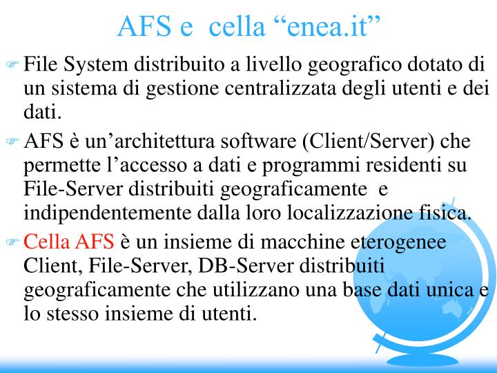"AFS e  cella ""enea.it"""