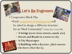 let s be engineers