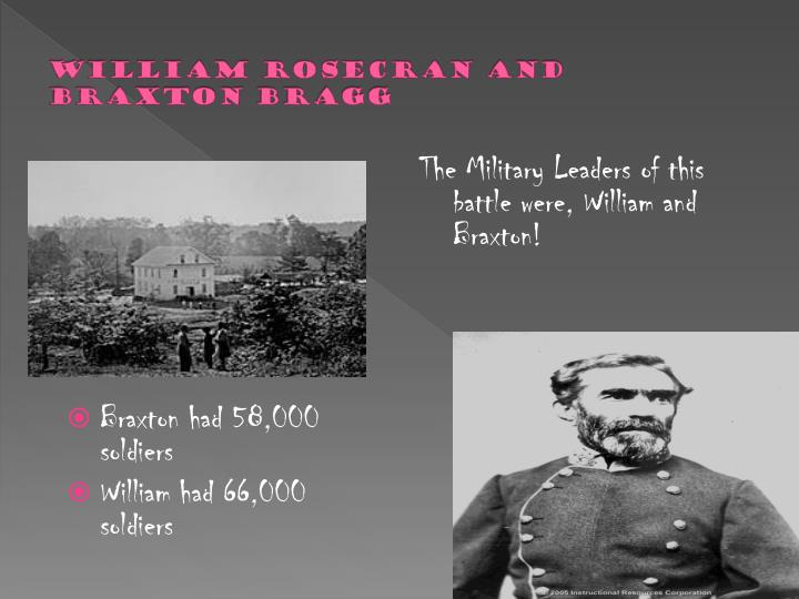 William rosecran and braxton bragg