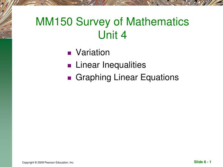 mm150 survey of mathematics unit 4 n.