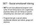 set social emotionell tr ning