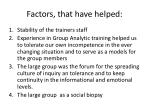 factors that have helped