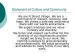 statement of culture and community
