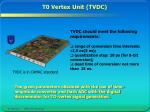 t0 vertex unit tvdc