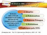 budaya organisasi dan good governance