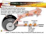 ethics translating values into rules
