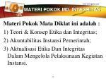 materi pokok md integritas