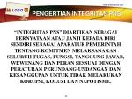 pengertian integritas pns