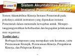 sistem akuntabilitas kinerja instansi pemerintah sakip