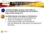 struktur penyajian md integritas