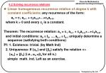 6 2 solving recurrence relations