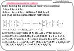simultaneous recurrence relations