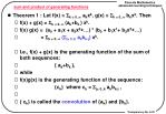 sum and product of generating functions