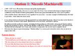station 1 niccol machiavelli