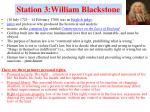 station 3 william blackstone
