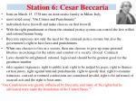 station 6 cesar beccaria