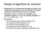 design of algorithms by induction1