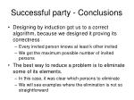 successful party conclusions