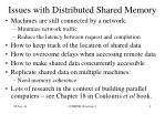 issues with distributed shared memory