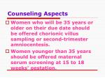 counseling aspects