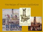 the reign of terror guillotine