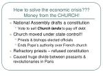 how to solve the economic crisis money from the church