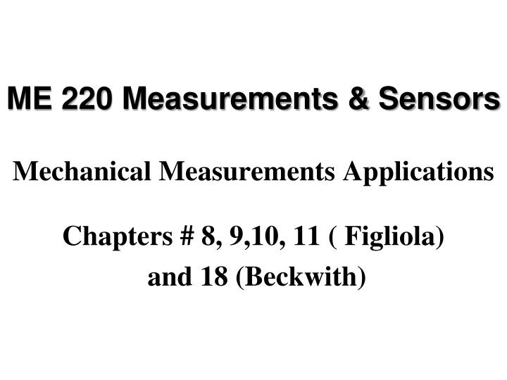 me 220 measurements sensors mechanical measurements applications n.