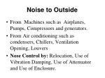 noise to outside