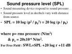 sound pressure level spl